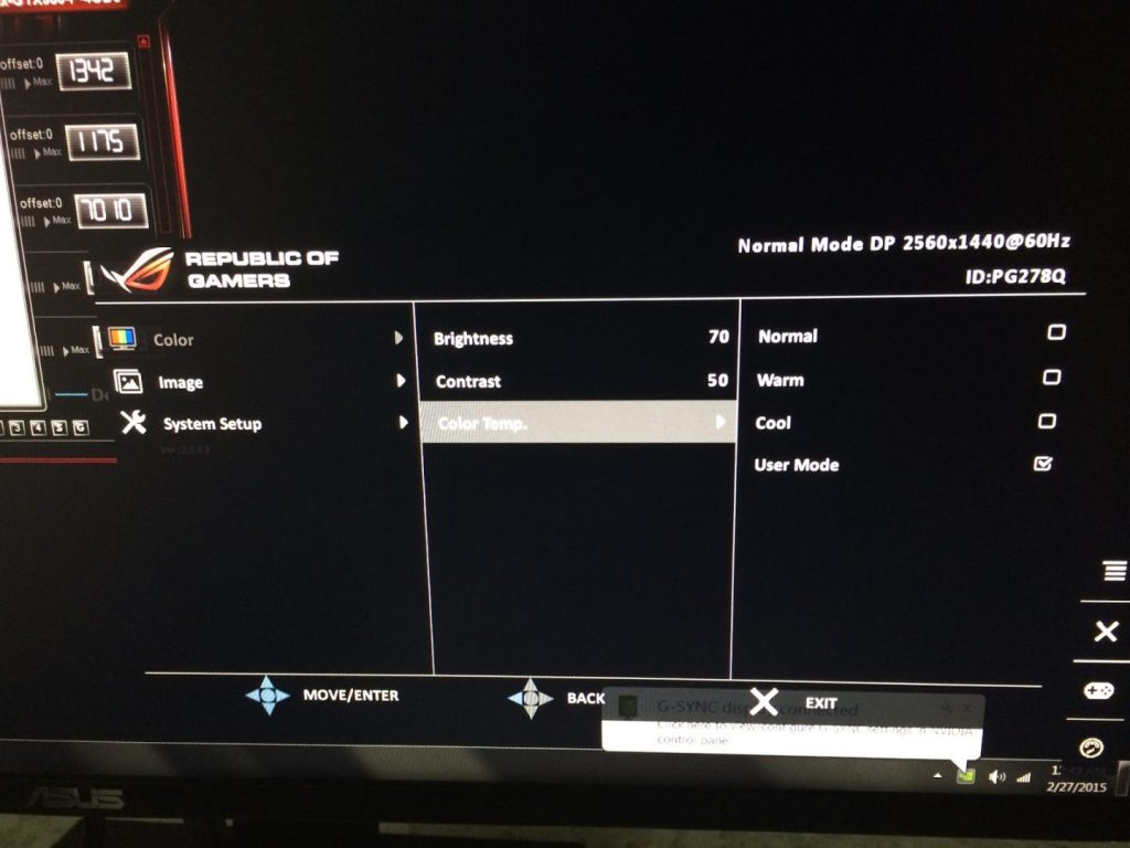Review: ASUS ROG SWIFT PG278Q G-SYNC Gaming Monitor 13