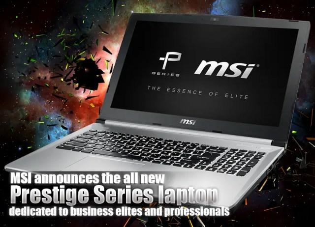 MSI announces the all new Prestige Series laptop 33
