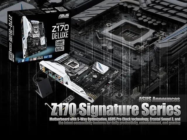 ASUS Announces Z170 Signature Series 9