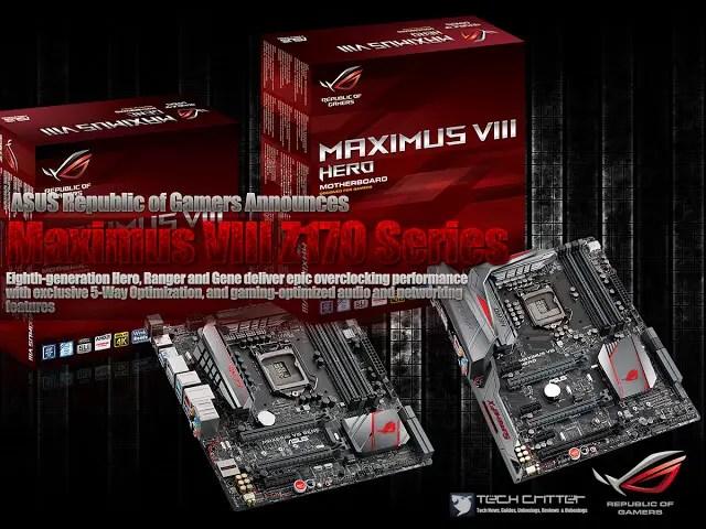 ASUS Republic of Gamers Announces Maximus VIII Z170 Series 11