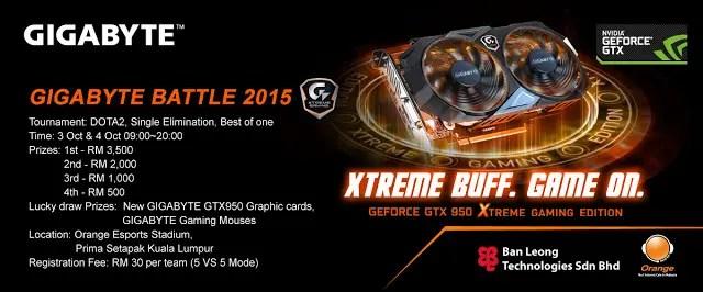 Gigabyte GTX 950 lauching & Dota Tournament Event @ Orange Esports Stadium 3