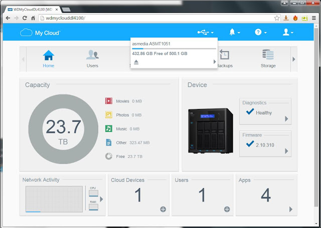 WD My Cloud Business Series DL4100 24TB NAS Review 123