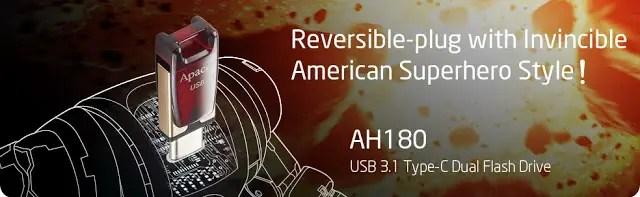 Apacer Introduces AH180 - Iron Man Inspired Reversible-plug USB 3.1 Type-C Dual Flash Drive 11