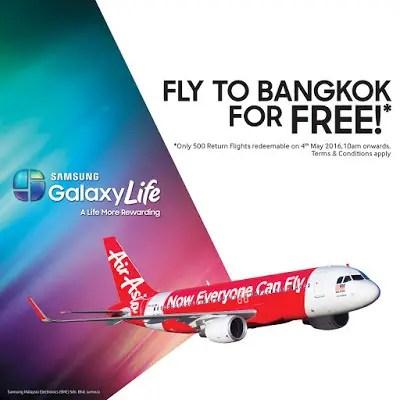 Free return flights to Bangkok with Samsung GALAXY Life! 3
