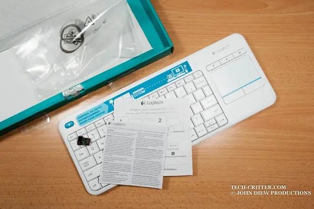 Unboxing & Review: Logitech Wireless Touch Keyboard K400 Plus 49