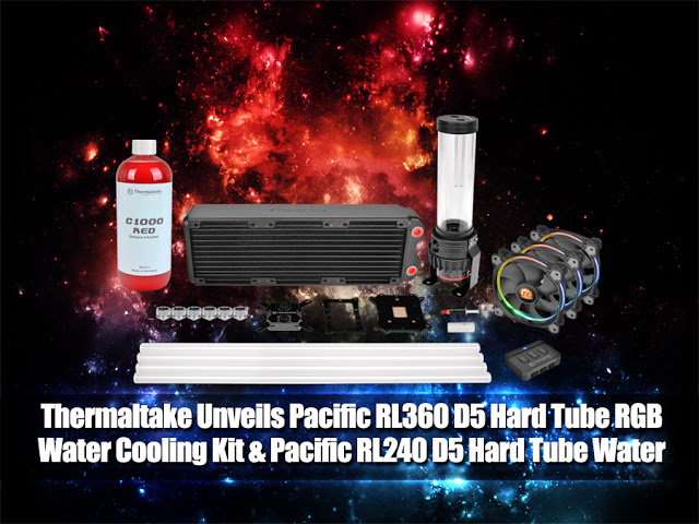Thermaltake Introduces Pacific RL360 D5 Hard Tube RGB Water Cooling Kit & Pacific RL240 D5 Hard Tube Water Cooling Kit 13