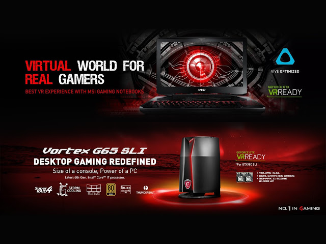 MSI Leads the Competition With Its 1st VR Ready Gaming Notebook 3