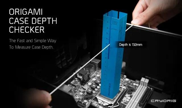 CRYORIG Origami Case Depth Checker, Case Compatibility Made Simple 6