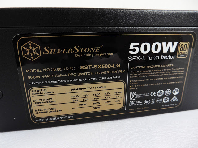 Unboxing & Preview: SilverStone SFX Series SX500-LG Power Supply 7