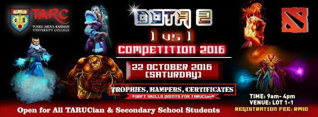 TARUC Kota Kinabalu 1 on 1 Dota 2 Tournament 1