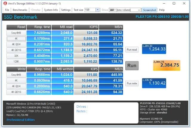 Plextor S1G 256GB M.2 SSD Review 11