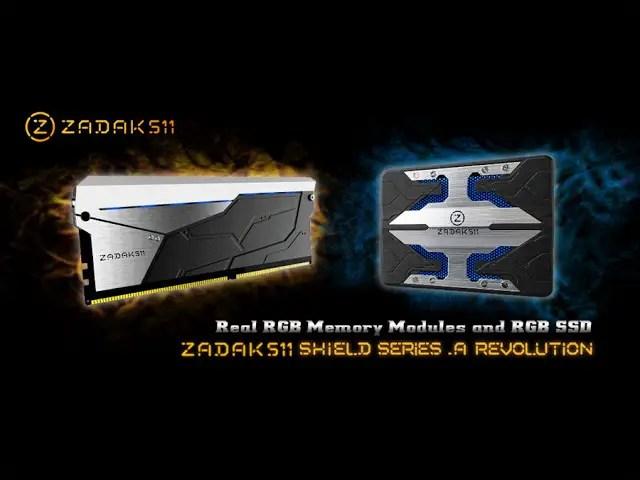 ZADAK511 Announces Its SHIELD Series RGB DDR4 Memory Kit and RGB SSD 3