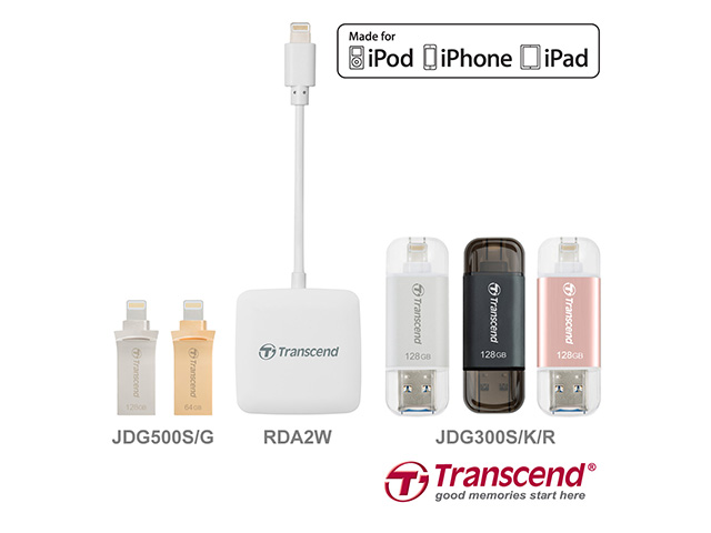 Transcend Offers Lightning-enable Storage Solution, the Perfect Match for iOS Devices 3