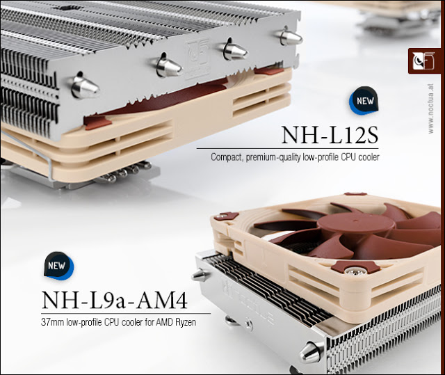 Noctua Announces New NH-L9a-AM4 and NH-L12S Low Profile CPU Coolers To Support Ryzen AM4 Socket 1