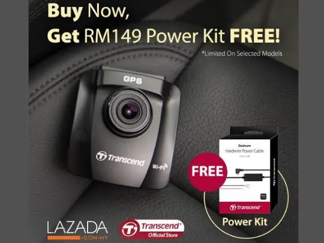 Transcend Bundles Power Kit With Its Selected DrivePro Dashcam For Lazada 1111 Online Revolution Sales 3