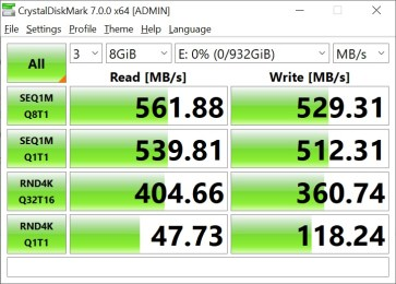 CrystalDiskMark Samsung 860 EVO 8GB (1)