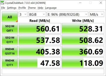 CrystalDiskMark Samsung 860 EVO 8GB (2)