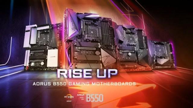 Gigabyte AORUS B550 Motherboards Ryzen 3000XT XT Series Featured