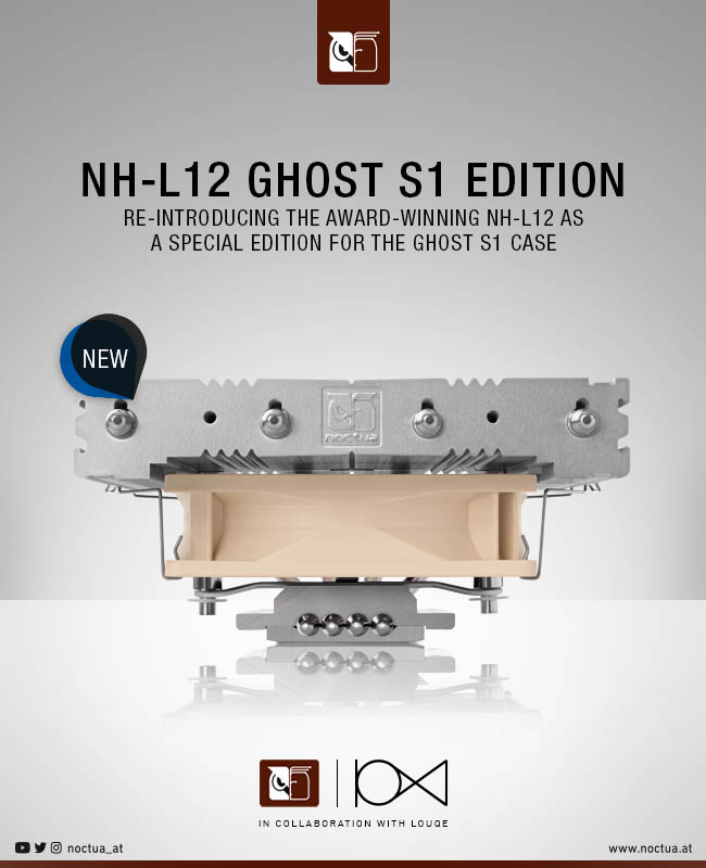 Louqe Noctua NH-L12 Special Edition For Ghost S1 Case
