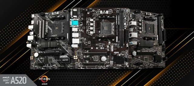 MSI A520 Series Motherboards Featured