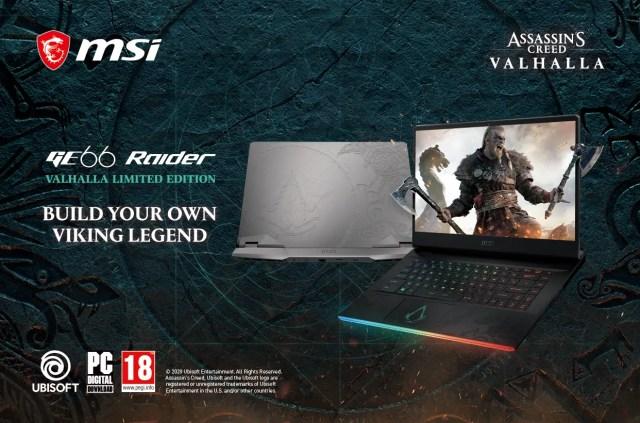 MSI Ubisoft GE66 Raider Valhalla