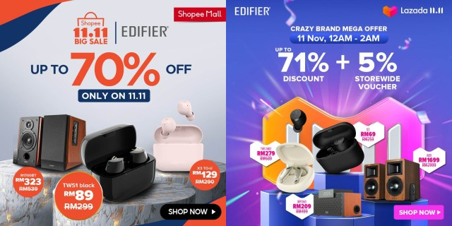 Edifier Lazada 11.11 Sales Featured