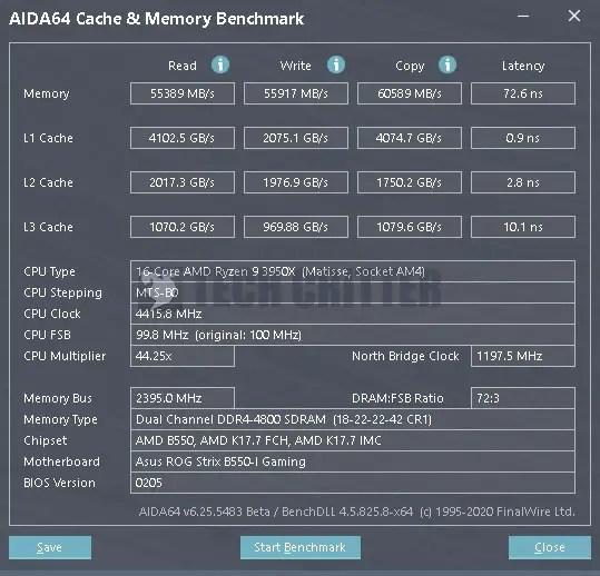 ADATA XPG Spectrix D60G DDR4 4800 CL18 AIDA64