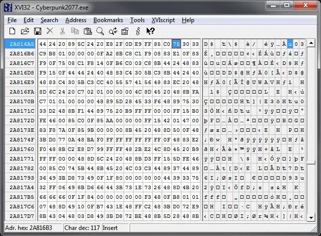 AMD Ryzen CPU Cyberpunk 2077 patch XVI32 Hex Editor