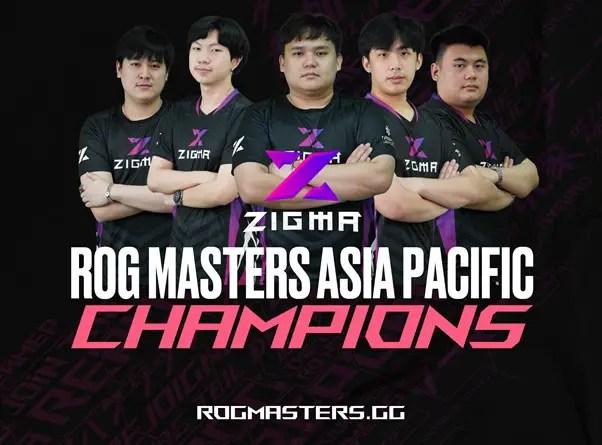ROG Masters APAC ZIGMA