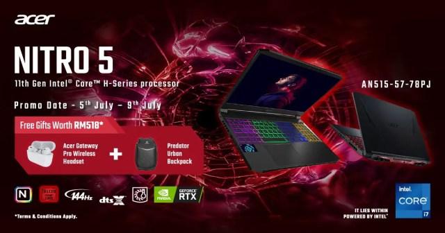 Acer Nitro 5 11th Gen Intel Core H