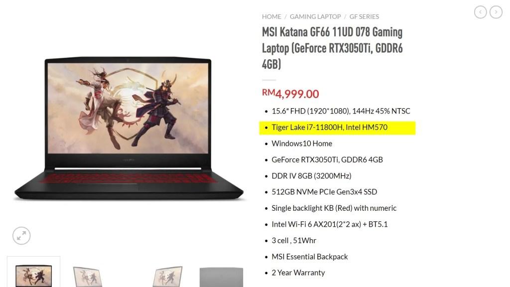 MSI Katana GF66 2