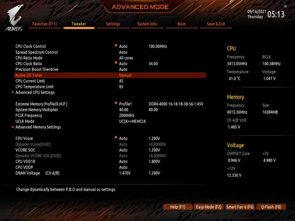 X570S AORUS Master Screenshot F3b BIOS S