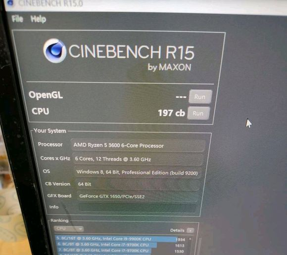 AMD Ryzen R5 3600 Cinebench R15 score leak (1)