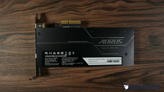 Review: Gigabyte AORUS RGB AIC NVMe SSD 1TB