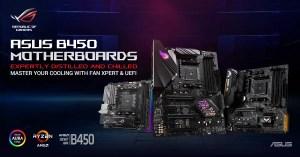 ASUS AMD B450 Chipset Motherboards ROG Strix TUF Gaming Prime Featured