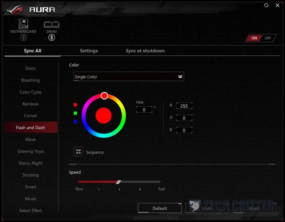 ASUS AURA Teamgroup Nighthawk DDR4 RGB
