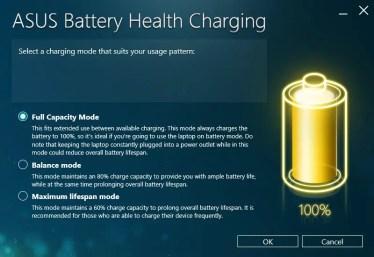 ASUS Battery Health Charging