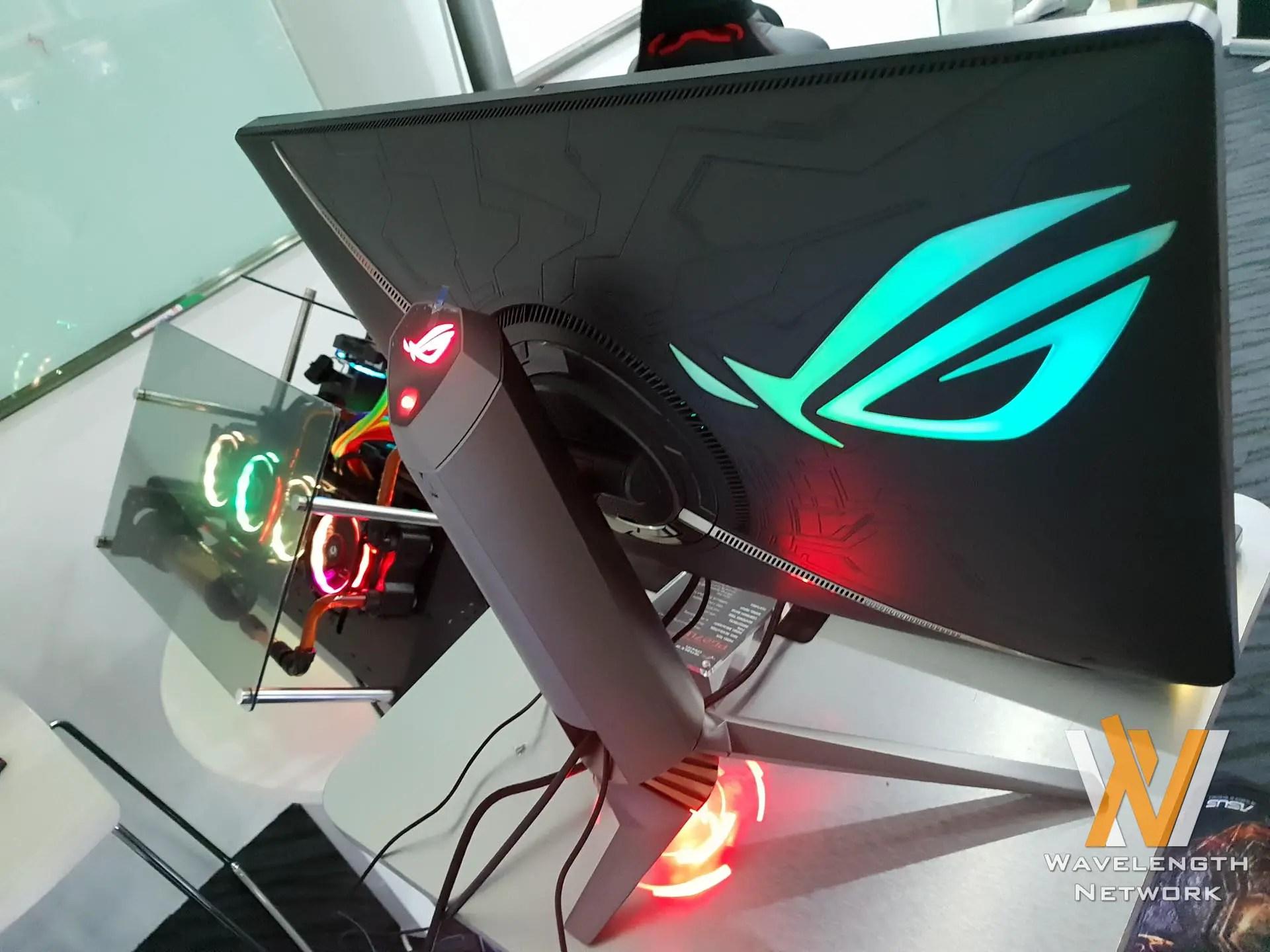 Asus Showcases Latest Monitors Including Rog Swift Pg27uq Monitor Vc239h Eye Care Frameless 23 Full Hd Ips Speaker Tuv