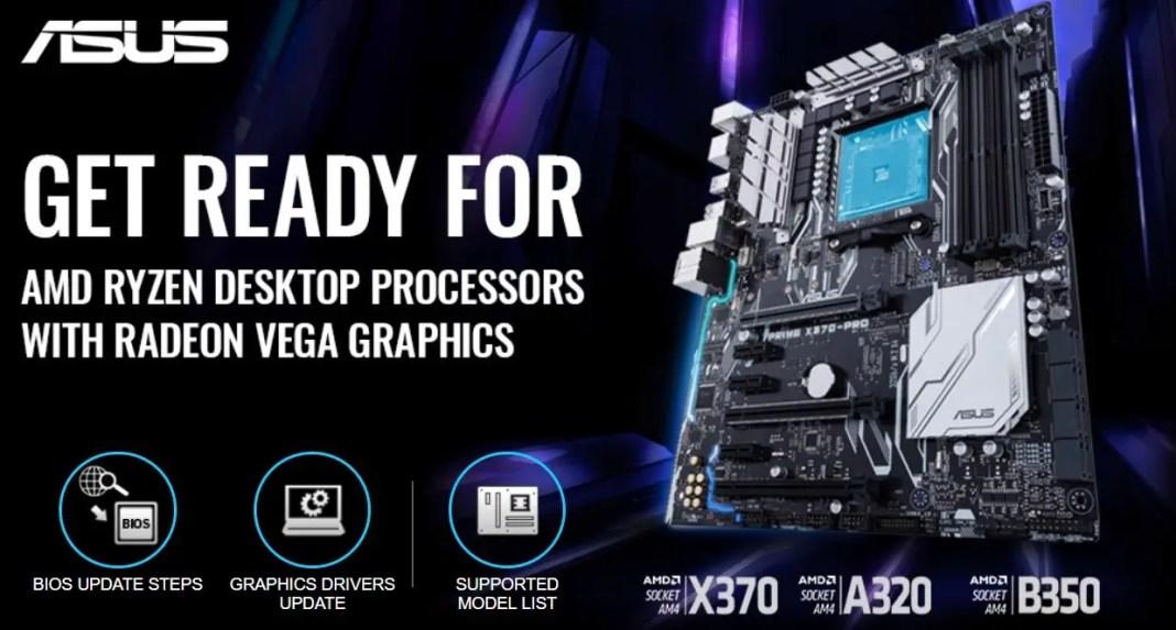 ASUS X370 A320 B350 AMD Raven Ridge Ryzen 5 2400G Ryzen 3 2200G APU (1)