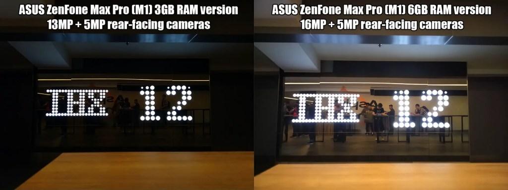 ASUS ZenFone Max Pro (M1) 6GB and 3GB RAM versions camera comparison