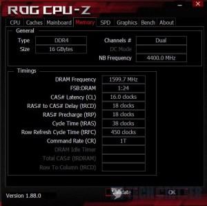 CPU-Z Teamgroup Nighthawk DDR4 RGB XMP 3200MHz