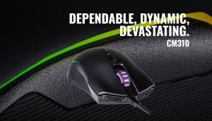 Cooler Master CM310 ambidextrous rgb gaming mouse featured