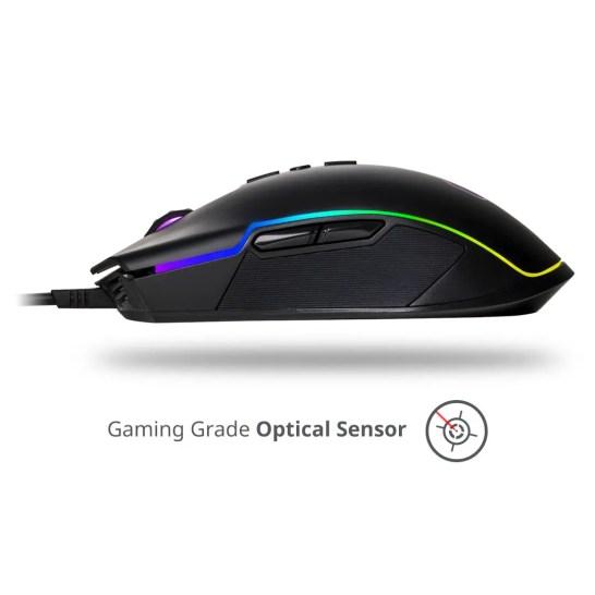 Cooler Master CM310 ambidextrous rgb gaming mouse sensor