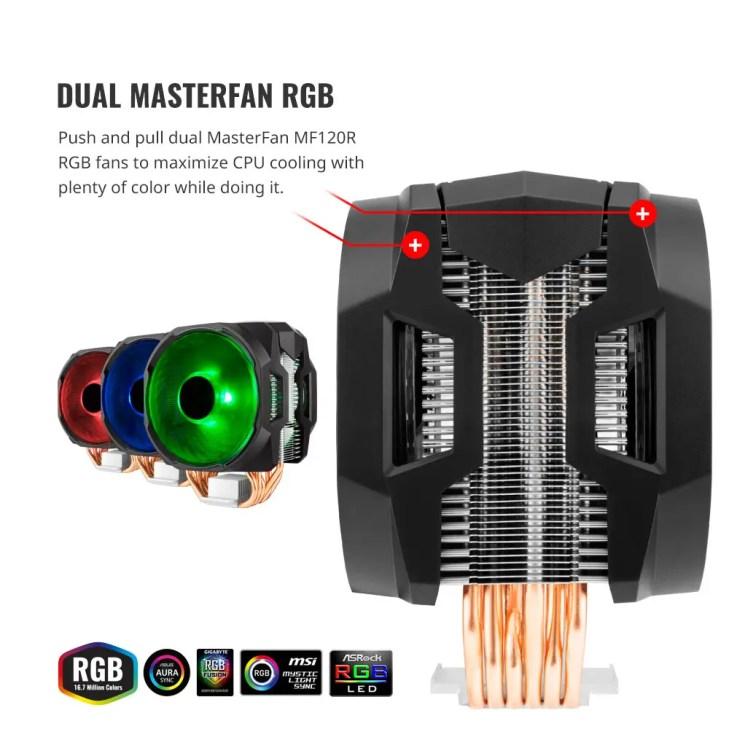 Cooler Master MasterAir MA610P RGB CPU Cooler (1)