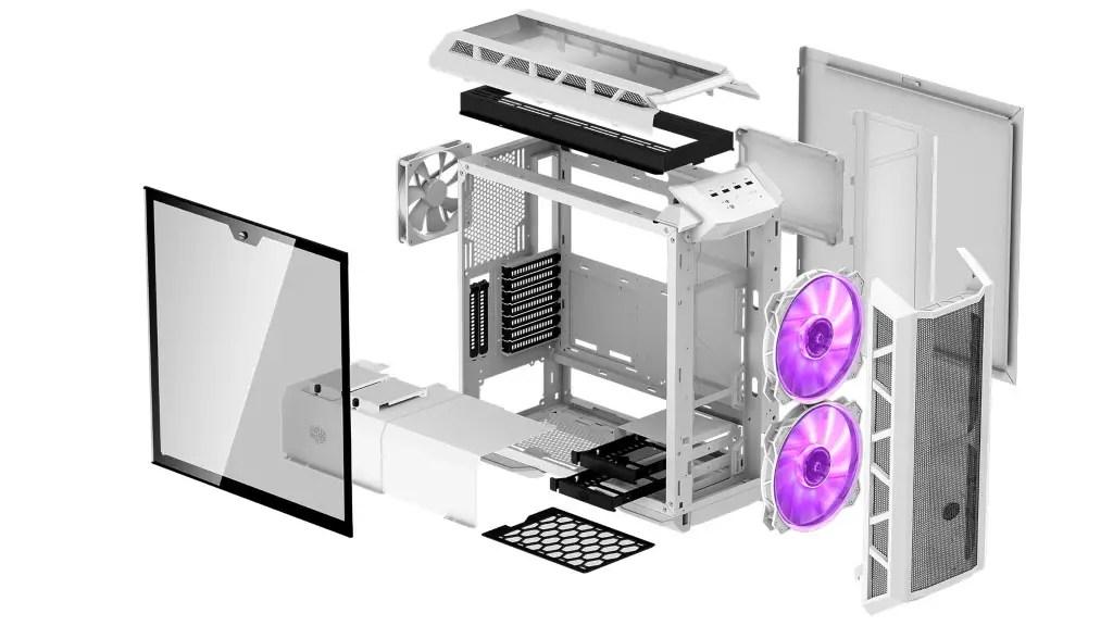 Cooler Master MasterCase H500P Mesh White Exploded View