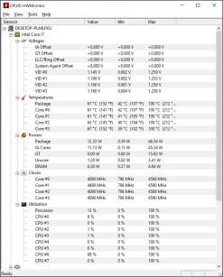 Dell XPS 13 9380 HWMonitor