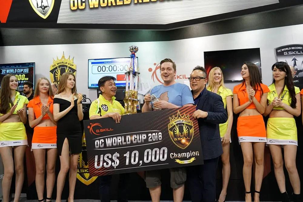G.skill computex 2018 overclock Champion
