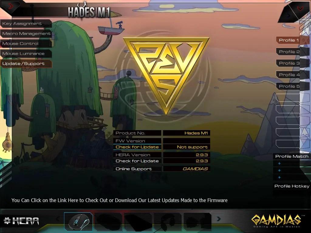 GAMDIAS Hades M1 wireless gaming mouse HERA software