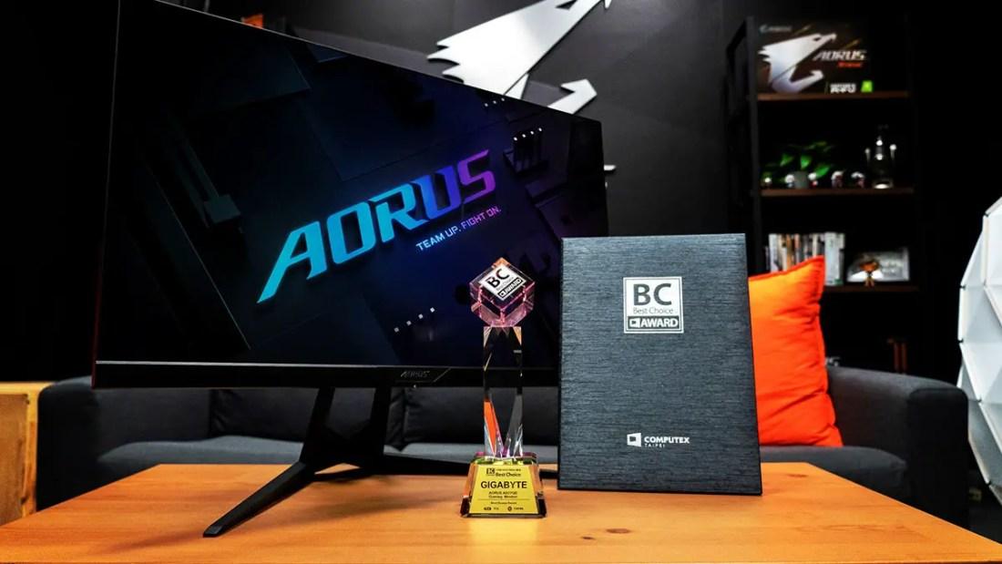 Gigabyte AORUS AD27QD Gaming Monitor Computex 2019 Best Choice Award