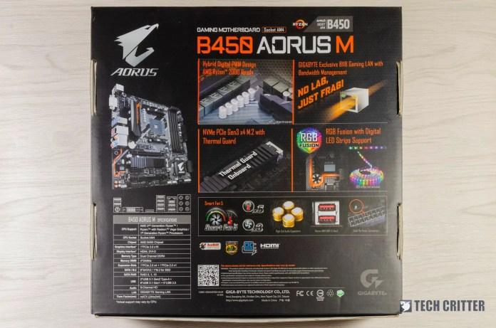 Gigabyte B450 AORUS M Motherboard Performance Review
